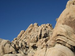 Playing among the gigantic boulders in Joshua Tree National Park