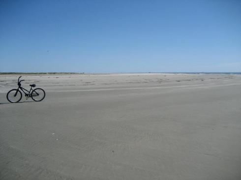Biking on the beach in Kiawah Island, SC