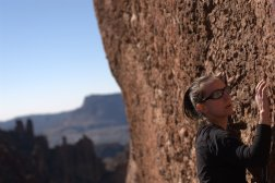 Rock climbing in Arizona